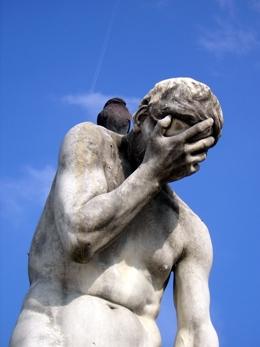 Forlorn statue