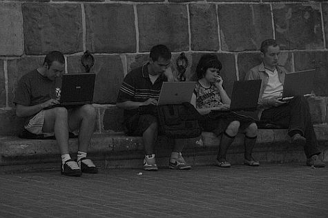 Humanity on four laptops