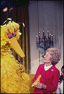 Big Bird with Pat Nixon