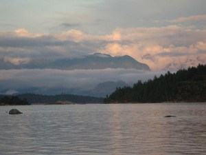 Mainland British Columbia, from the shore at Hollyhock