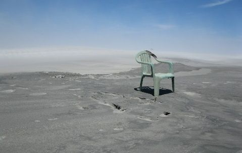 chair in the desert