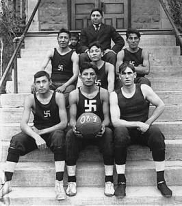 indian bastketball team circa 1909