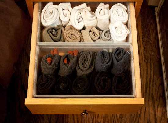 socks in drawer