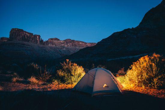 camping desert